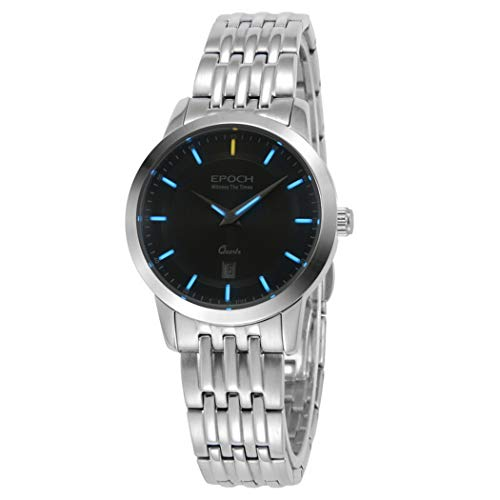 EPOCH 6023L 50m Water Resistant T25 Tritium Luminous Vogue Business Dress Lady Women Quartz Watch Wristwatch (P11)