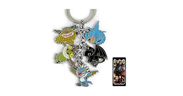 Amazon.com: Cómo entrenar a tu dragón metal encanto llavero ...