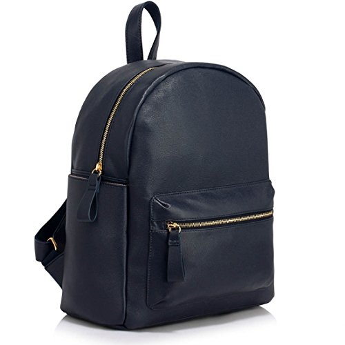 A4 Girls Nice Bag Blue Handbags Leather Faux Bags School Rucksack navy Cw186 Holiday Leahward Backpack For Women's Quality wxASqwd06