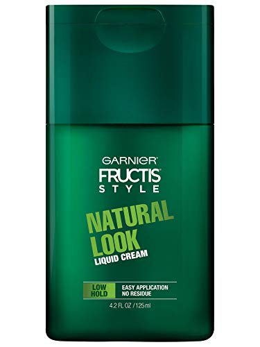 Garnier Hair Care Fructis Style Natural Look Liquid Hair Cream for Men No Drying Alcohol, 4.2 Fl Oz