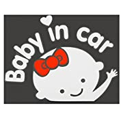 Cartoon Car Stickers 3D Reflective Vinyl Styling Baby In Car Warming Car Sticker Baby On Board On Rear Windshield