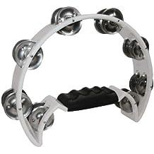 DD Pro Half Moon Tambourine -White Double Row Cutaway