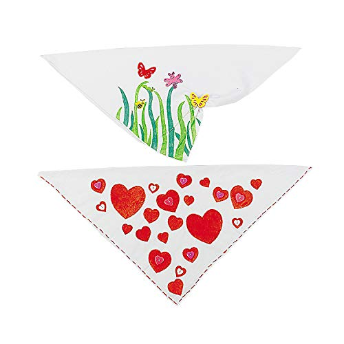 Fun Express DIY Craft Bandanas (Bulk - Makes 48) Western Craft Kits for Kids
