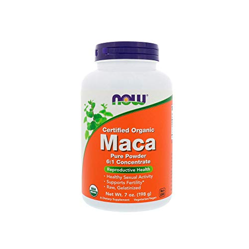 NOW Supplements, Organic Maca (Lepidium meyenii) Pure Powder, 6:1 Concentrate, Reproductive Health*, 7-Ounce