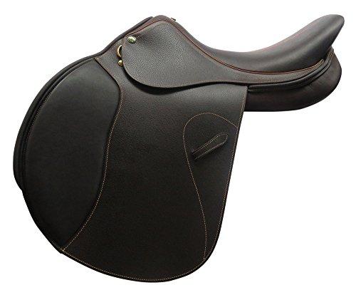 Henri de Rivel Pro RTF (Rotate-to-Fit) Memor-X Close Contact English Saddle | Horse Riding Equestrian Saddle - Australian Nut - 17.5 Regular