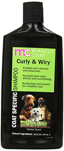 Coat Specific Dog Shampoo (Miracle Coat Dog Shampoo, Coat Specific for Coarse and Wiry Coats, 16-ounce Bottle)