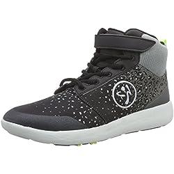 Zumba Women's Court Flow High Dance Shoe, Black/Graphite, 5 M US
