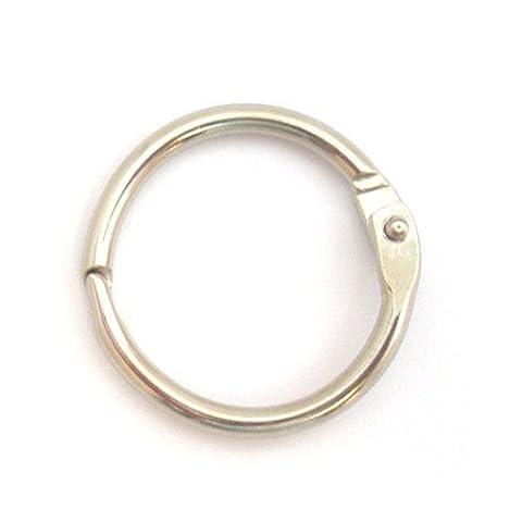 One Inch Nickel Plated Stainless Steel Split Snap O-Ring (Stainless Steel Snap Ring)