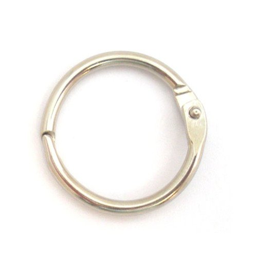 One Inch Nickel Plated Stainless Steel Split Snap O-Ring ()