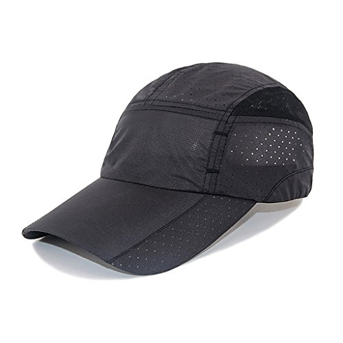 Lightweight Hat - LETHMIK Sport Cap Summer Quick-drying Sun Hat Unisex UV Protection Outdoor Cap Black