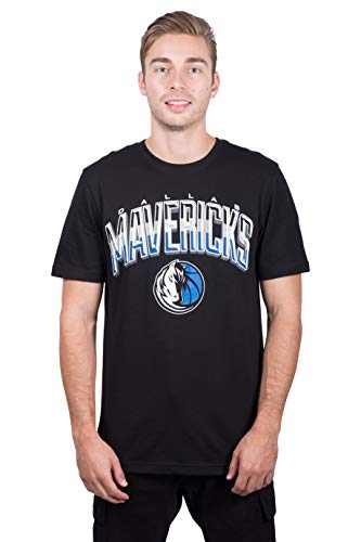 NBA Dallas Mavericks Men's T-Shirt Arched Plexi Short Sleeve Tee Shirt, Large, Black