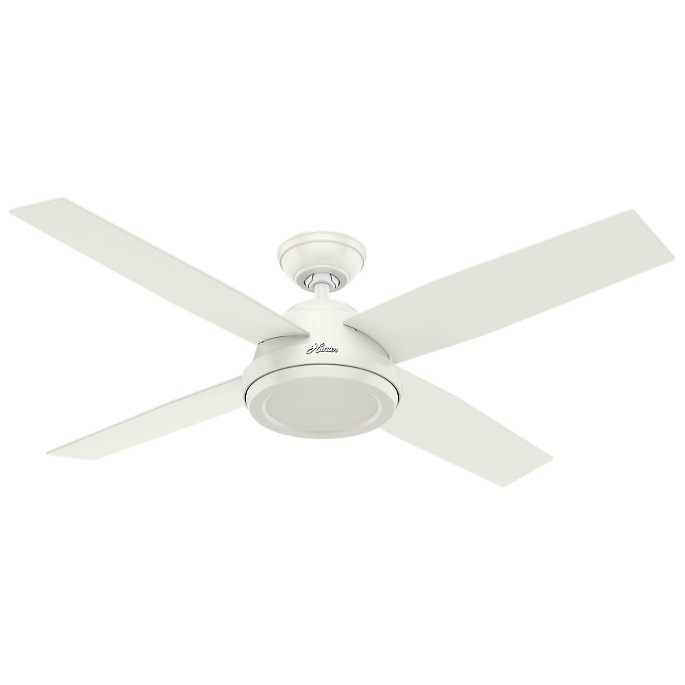 Hunter 59250 contemporary dempsey fresh white ceiling fan with hunter 59250 contemporary dempsey fresh white ceiling fan with remote 52 inch amazon aloadofball Images