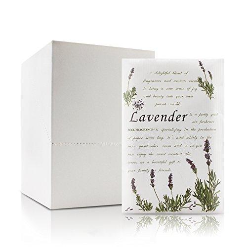 Lavender Scented Sachet for Drawers and Closets - Feel Fragrance Sachets, Lot of 12 - Sachet Lavender Fragrance