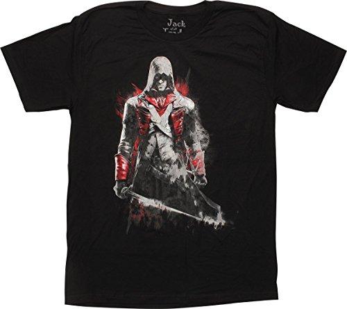 Assassins Creed Arno Dorain Black T-Shirt Slim Fit, X-Large