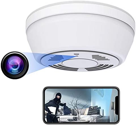 Hidden Camera Smoke Detector – Spy Camera 180 Days Standby Mini HD 1080P WiFi Night Vision Motion Detection Video Recorder Real-Time View Nanny Cam
