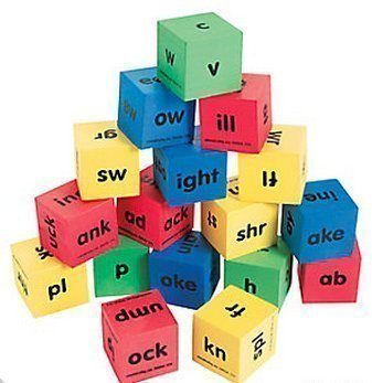 Fun Express Reading Dice, Word Family Dice, Phonics Game