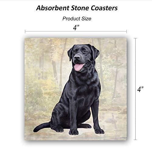 Labrador (Black Sitting) Tabletop Drink Coaster (1)