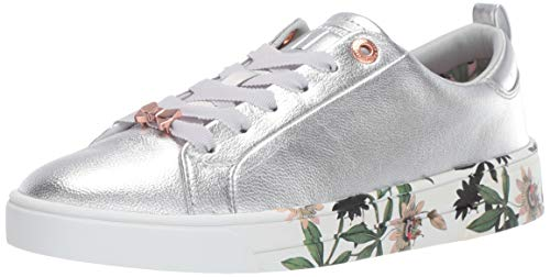 (Ted Baker Women's Roully Sneaker, Silver Illusion, 7.5 Regular US)