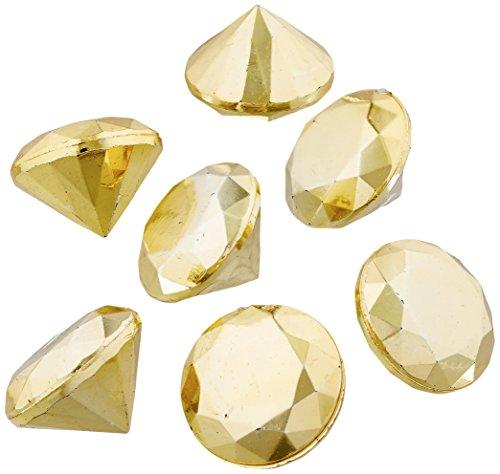 Firefly Imports FUF0260077GD_50pc 50 Piece Acrylic Diamond Gemstone Table Scatter, 3/4