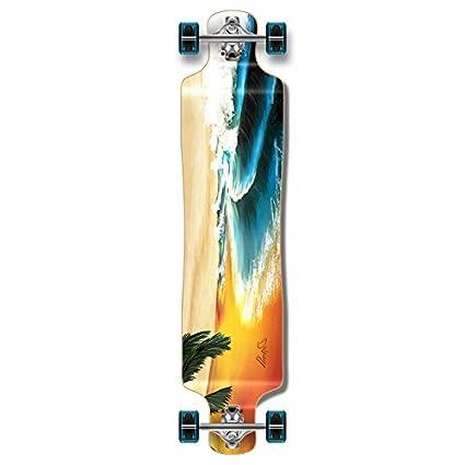 Sporting Goods Yocaher Drop Down Beach Longboard Complete Skateboarding & Longboarding