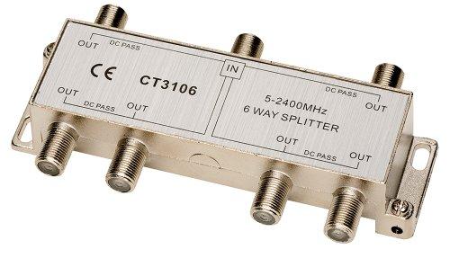 (Allen Tel CT3106 Coaxial 2.4 GHz 6-Way Splitter)
