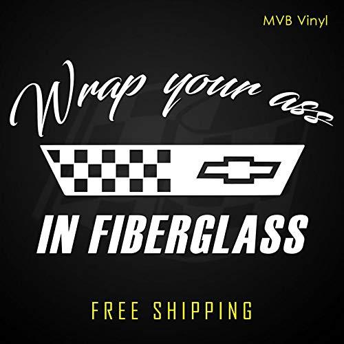 CECILIAPATER Wrap Your Ass in Fiberglass Vinyl Decal Sticker Corvette