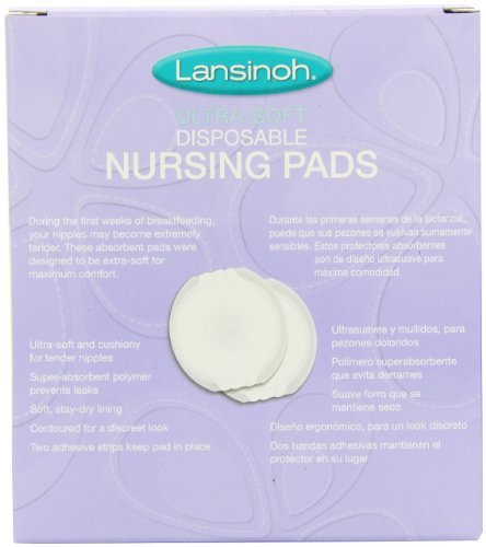 Lansinoh Ultra Soft Disposable Nursing Pads, 36 count - Pack of 6