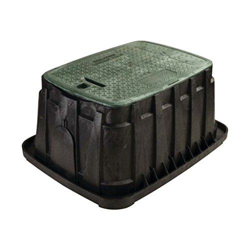 Rainbird Jumbo Valve Box with Rectangular Body, Lid and Lock, Green (Covers Valve Water)