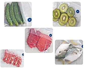 YISAMA Bolsas Para Envasar Al Vacio Reutilizables, 80 Micra Espesor Para Cocinar al Vacio,Empacar Alimentos,Viajes,Pesca (4 23x21 cm,6 23x28 cm,Bomba ...