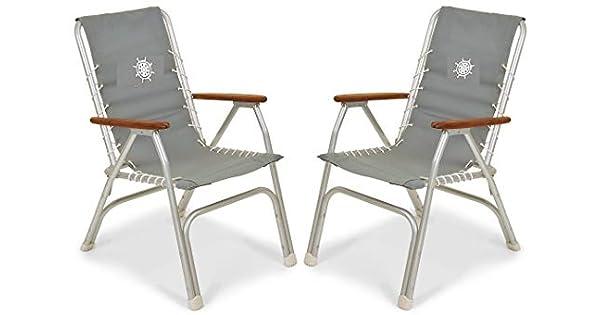 Amazon.com: FORMA Marine Set de 2 sillas de respaldo alto ...