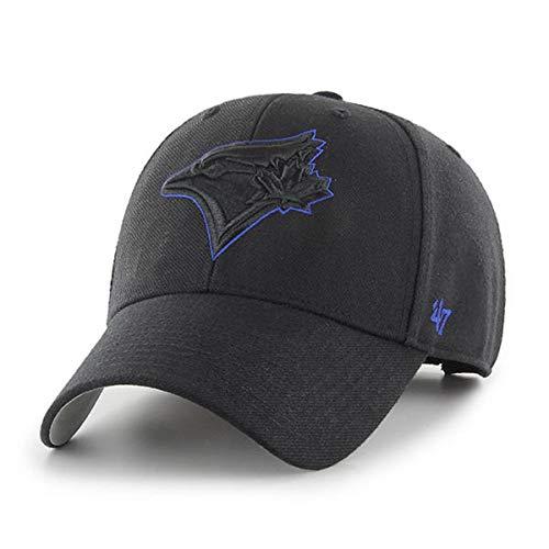 '47 Toronto Blue Jays MVP Wool Black with Blue Outline Adjustable Hat Cap MLB (Toronto Caps Blue Jays)