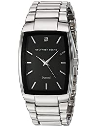 Geoffrey Beene Men's Quartz Metal and Alloy Dress Watch, Color:Silver-Toned (Model: GB8089SLBK)
