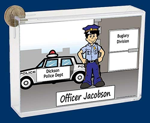 Personalized NTT Cartoon Side Slide Frame Gift: Police Male Gift, Police Officer, Peace Officer, Constable