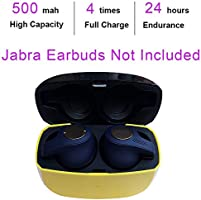 Amazon Com Replacement Charging Case Compatible With Jabra Elite Active 65t Elite 65t Charger Case Only Earbuds Not Included Earbuds Protective Substitute Cover With Built In Battery Yellow Computers Accessories