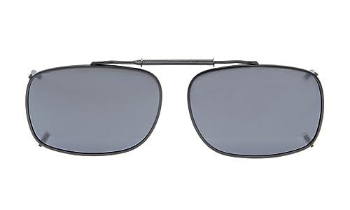 Eyekepper metallo Cerchiato polarizzata lenti clip su occhiali da sole 54 * 37MM