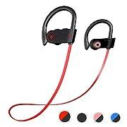 #LightningDeal Otium Bluetooth Headphones, Best Wireless Earbuds IPX7 Waterproof Sports Earphones w/Mic HD Stereo Sweatproof in-Ear Earbuds Gym Running Workout 8 Hour Battery Noise Cancelling Headsets