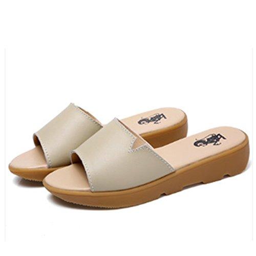 de los frescas las los plana inclinan 3 zapatos de con del hembra la las planos deslizadores de de inferior de embarazadas verano sandalias mujeres Los de deslizadores sandalias moda D color las Cómodo gRwUFqvfg