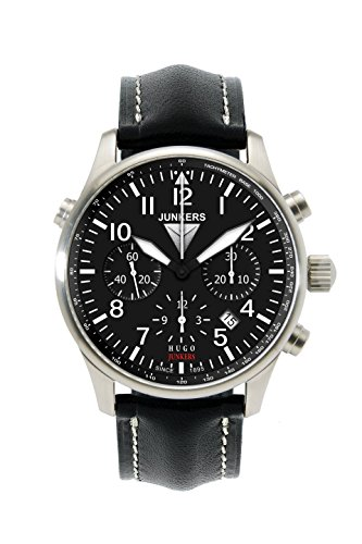 Junkers Series Hugo Junkers Automatic Chronograph Valjoux 27J Movement Men's Watch Black 6628-2