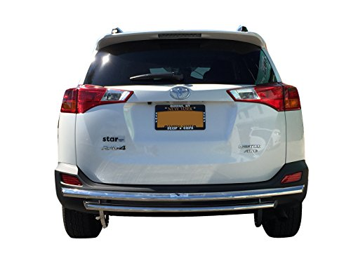 VANGUARD Off Road VGRBG-1233-1235SS For Toyota RAV 4 2006-2018 Rear Bumper Guard Stainless Steel Double Layer Style ()