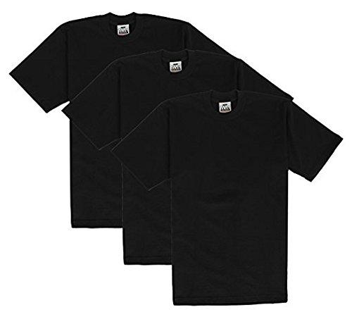 Pro Club Men's Heavyweight Cotton Short Sleeve Crew Neck T-Shirt, 2XL-Tall, Black (3 - Black T Shirts Pro