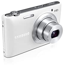 """Samsung ST150F 16.2MP Smart WiFi Digital Camera with 5x Optical Zoom and 3.0"""" LCD Screen (White)"""