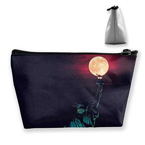 Makeup Bag Cosmetic Statue Of Liberty US Portable Bag Mobile Trapezoidal Storage Bag Travel Bags With Zipper