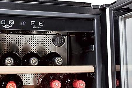 Hoover HWCB 45 - Vinoteca de integración, 18 botellas, Display digital, Filtro carbón, Compresor antivibraciones, Iluminación led, 39 dBA, 51 L[Clase de eficiencia energética G]