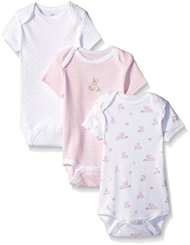 Bunny Infant Bodysuit - Little Me Baby Bunnies 3 Pack Bodysuit, White/Multi, New Born
