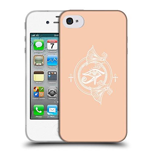 GoGoMobile Coque de Protection TPU Silicone Case pour // Q09810604 Religion 21 Abricot // Apple iPhone 4 4S 4G
