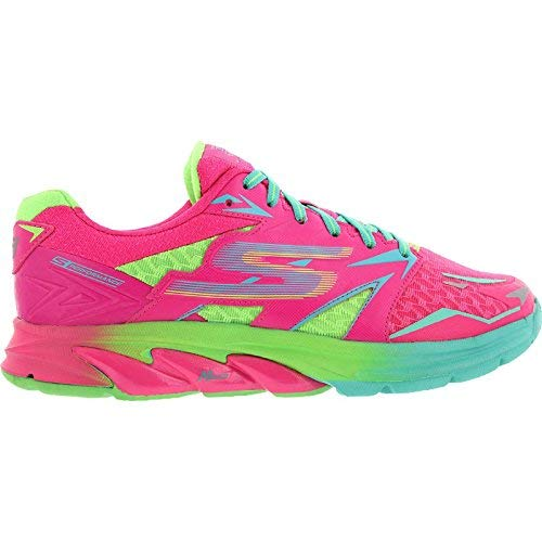 Skechers Women's GOrun Strada Sneakers Running Shoes 14001-HPGR (USW 6 / EUR 36/23 cm;) Hot Pink/Green