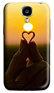 Brian114 Samsung Galaxy S4 Case, S4 Case - 3D Print Pattern Hard Cover for Samsung Galaxy S4 I9500 Heart In Hand Extremely Protective Case for Samsung Galaxy S4 I9500