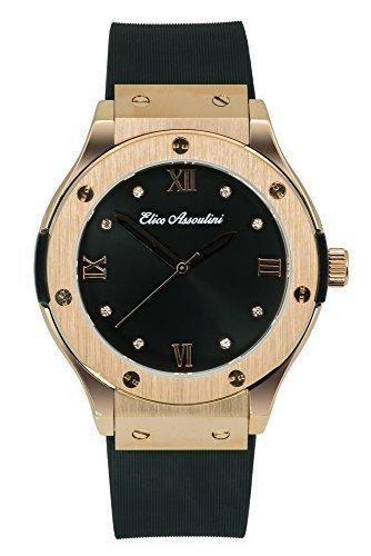 Elico Assoulini Women's Luxury Wrist Watch with Swarovski Crystals – CL76040 Diamante Japanese Quartz Movement – 47mm Case Size (Crystal Womens Automatic Swarovski)