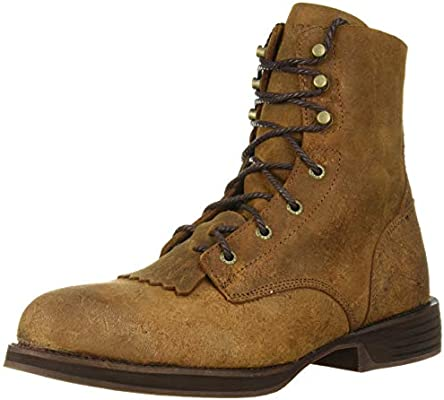1f993f3dd4a Rocky Renegade Steel Toe Lacer Western Boot Distressed Brown: Amazon ...