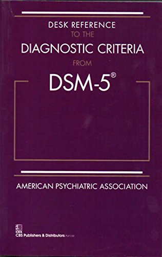 Desk Reference To The Diagnostic Criteria From Dsm 5 Spl Edition (Pb 2017)